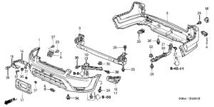 Honda online store : 2003 crv bumper ('04) parts