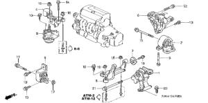 Honda online store : 2003 crv engine mounts (at) (4wd) parts