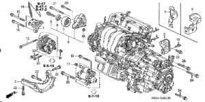 Honda online store : 2004 crv engine mounting bracket parts