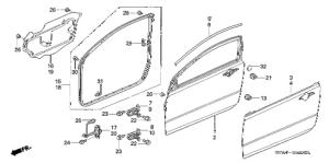 Honda online store : 2008 civic door panels parts