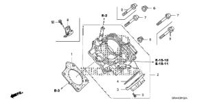 Honda online store : 2007 crv throttle body parts