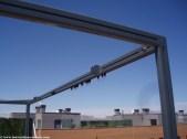 Pergola de aluminio Isleta con cortinas laterales motorizada con