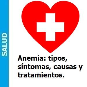 Anemia: tipos, síntomas, causas y tratamientos., Anemia: tipos, síntomas, causas y tratamientos.