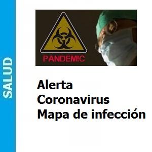 Alerta Coronavirus mapa de infección