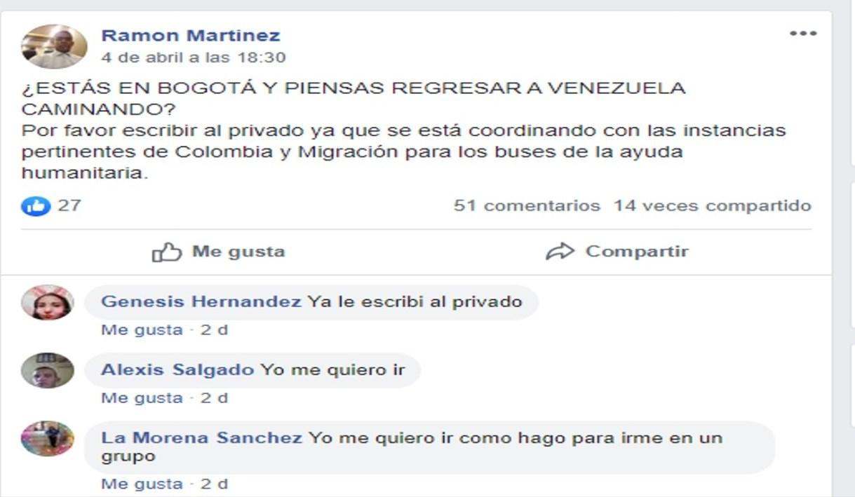 En Facebook ofertan estos boletos hacia la frontera
