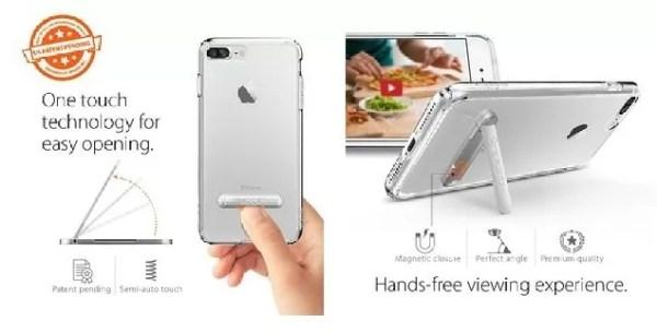 iPhone 7用最大の特徴は「キックスタンド内蔵」
