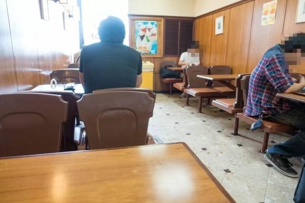 机と椅子がレトロ