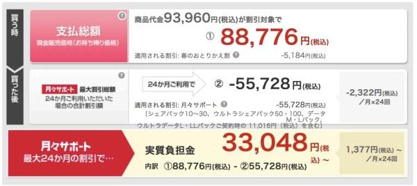 docomoのiPhone 7販売価格
