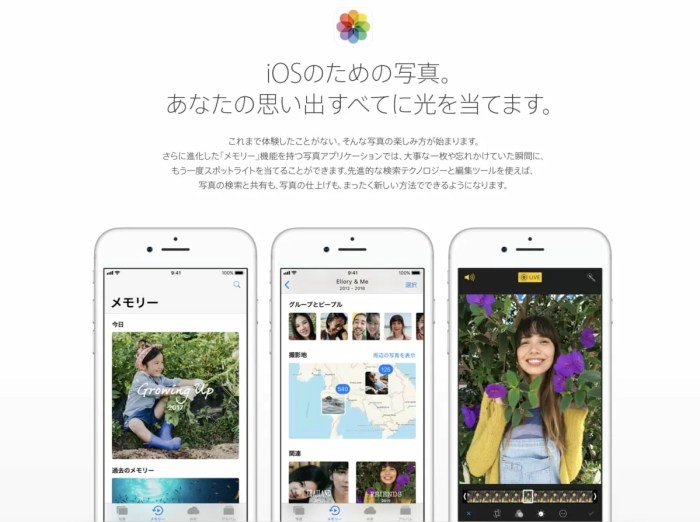 iOS 11で写真が便利に
