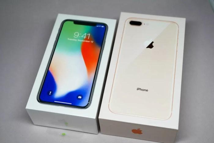 iPhone XとiPhone 8 Plusの化粧箱