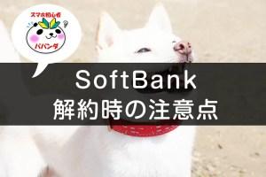 SoftBankを解約