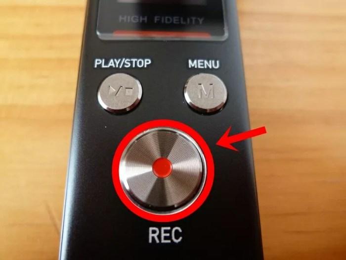 SoundPEATS(サウンドピーツ) Nano6 ボイスレコーダー 録音開始ボタン
