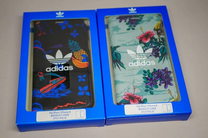 『adidas Originals Floral Booklet case iPhone X』パッケージ