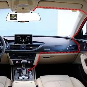 MUSON(ムソン) ドライブレコーダー 1080P NOTE1 車への取りつけ