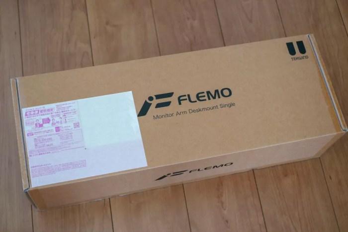 「FLEMO フレモ デスクマウントシングルモニターアーム DSA01」パッケージ