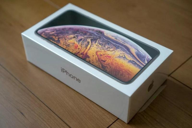 iPhone XS Maxの化粧箱