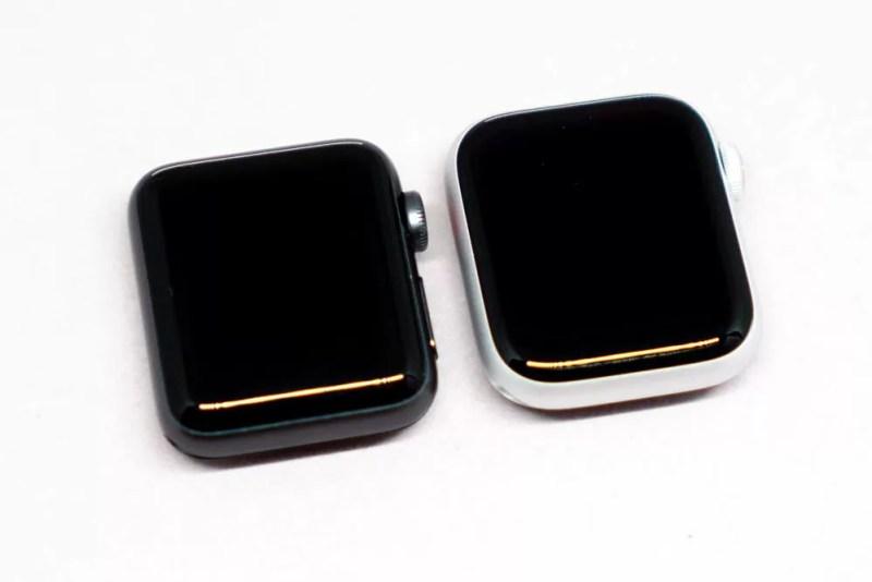 Apple Watch Series 3とSeries 4の画面の大きさ比較