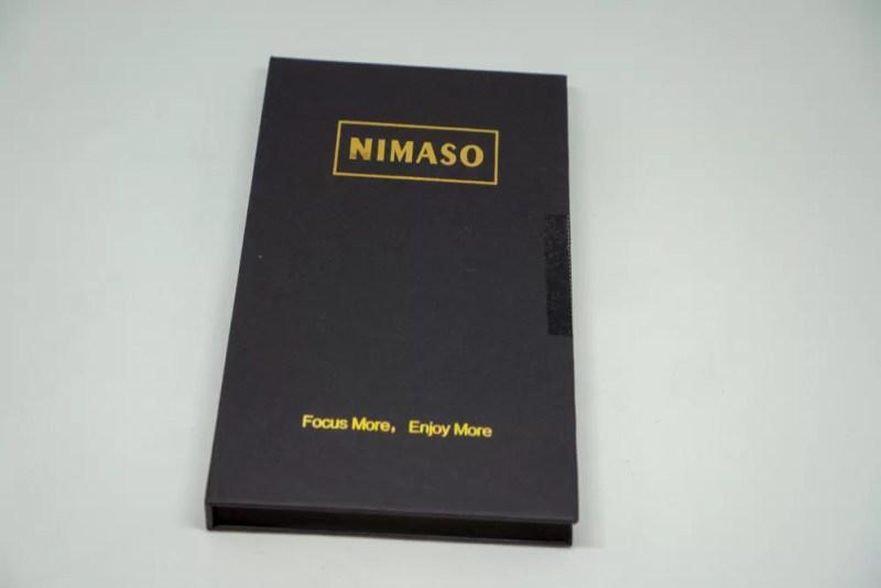 Nimaso iPhoneXS Max 用 全面保護フィルムのパッケージ
