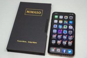 Nimaso iPhoneXS Max 用 全面保護フィルム