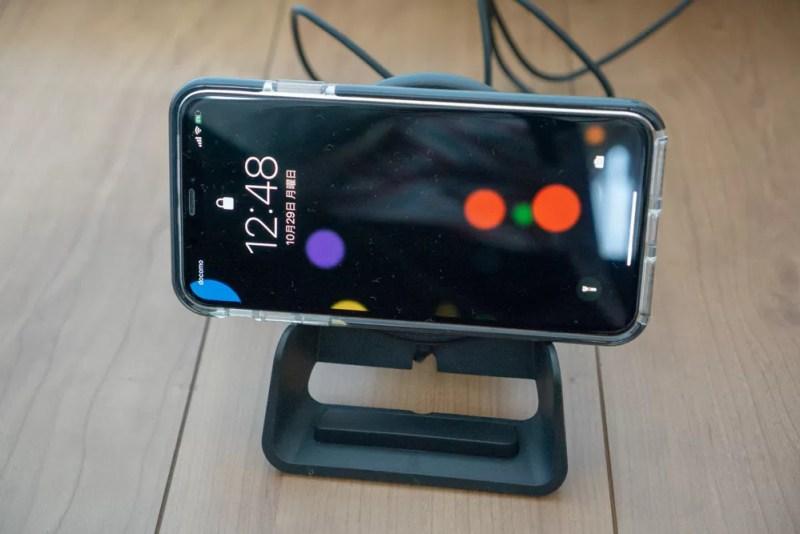 iPhone XS Maxを横向きで充電