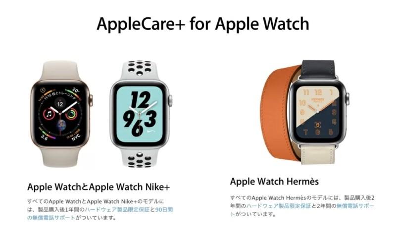 Apple WatchのAppleCare+