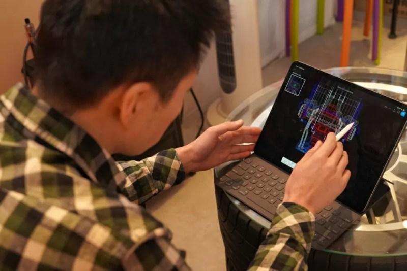 ゆうた社長iPad Proで図面描く