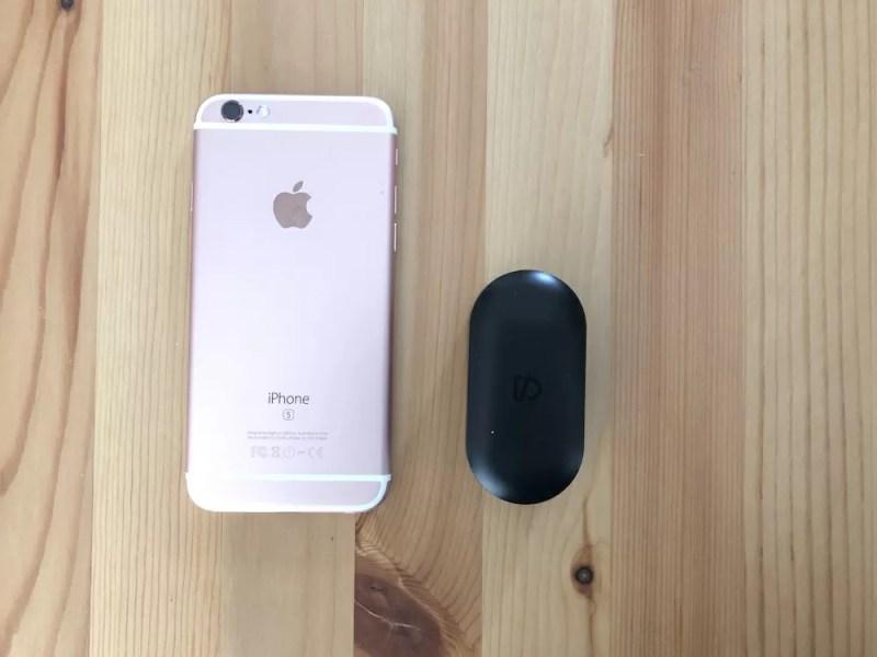 TruePods Bluetooth イヤホンのサイズ感 iPhoneと比較