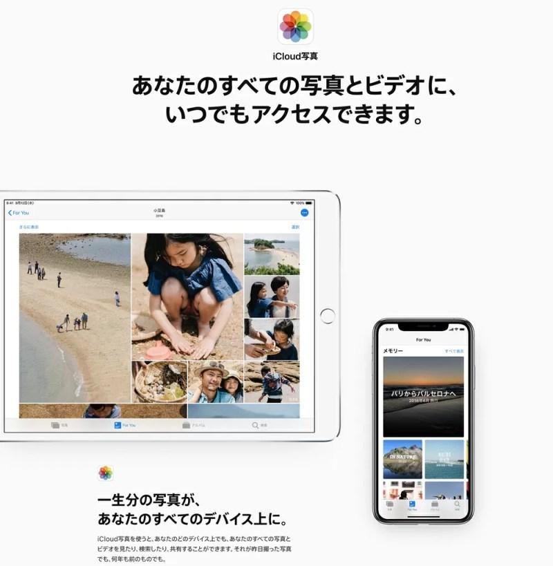 iCloud写真が便利