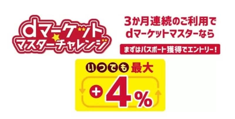 【dショッピング】dマーケットマスターチャレンジ