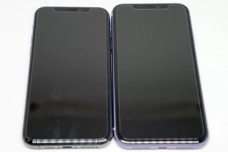 iPhone 11と11 Proの比較(正面)