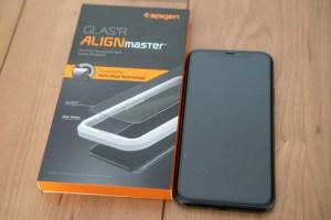 Spigen iPhone 11 Pro用全面保護ガラス「Glas.tR AlignMaster」レビュー