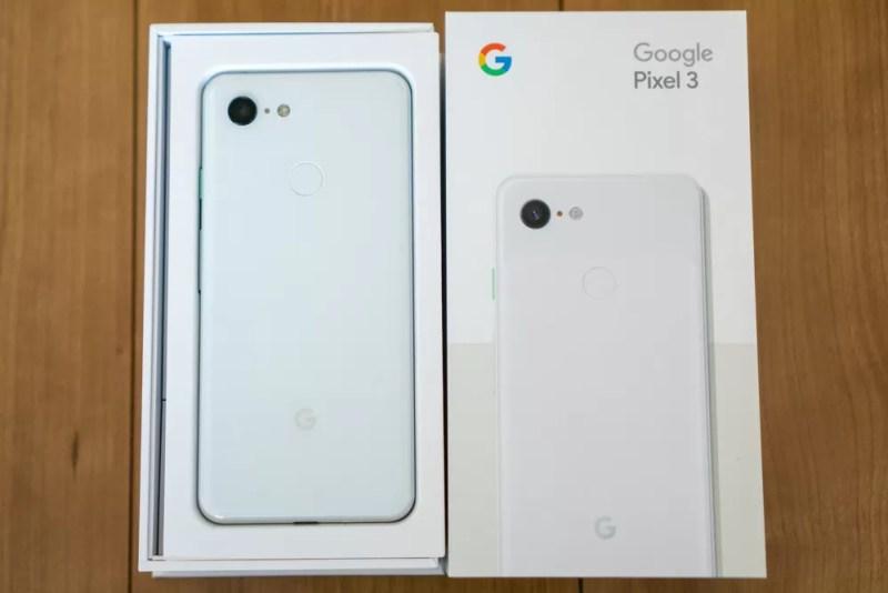Pixel 3のパッケージ