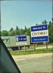 """Adoro a placa avisando da mudança no sistema de medidas. Me sinto """"em casa"""". Ontario é o estado em que Toronto está localizada."""