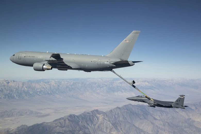 KC-46 refueling F-15E
