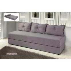 Sofa Cama Bicama 3 Lugares Casal Sofanete Suede cinza