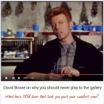 David Bowie on Authenticity. What have YOU done that took you out of your comfort zone?