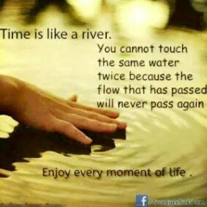 time like river