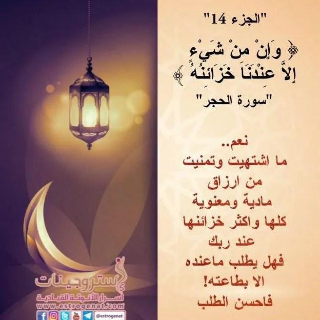الجزء الرابع عشر / مسابقة ربيع قلبي / رمضان 1438