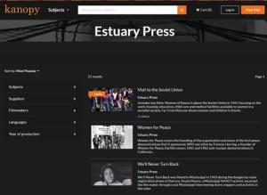 Estuary Press videos for libraries available through Kanopy.