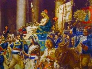 Francia corona a la diosa de la razón