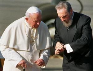 El Papa Juan Pablo II y Fidel Castro