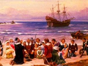 Los peregrinos llegan a América en el Mayflower