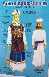 Vestiduras de sumo sacerdote y sacerdote común.