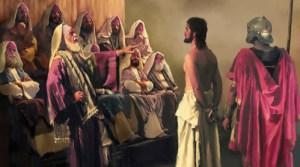 Jesús condenado por los sacerdotes y líderes religiosos de su tiempo.