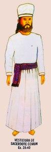 Vestiduras de sacerdote común (Éxodo 28:40)
