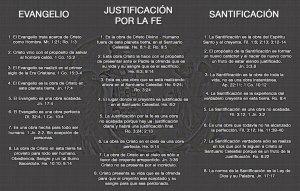 Diferencias entre Evangelio, Justificación, Santificación