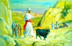 Macho cabrío que representa a satanás es enviado a tierra deshabitada y desolada (al desierto).