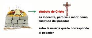 El cordero como símbolo de Cristo.