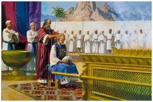 Moisés, Aarón, y los 24 turnos de sacerdocio.