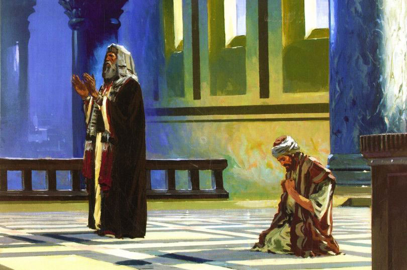 Resultado de imagen para En aquel tiempo, a algunos que se tenían por justos y despreciaban a los demás, Jesús les dijo esta parábola: «Dos hombres subieron al templo a orar; uno fariseo, otro publicano.  »El fariseo, de pie, oraba en su interior de esta manera: '¡Oh Dios! Te doy gracias porque no soy como los demás hombres, rapaces, injustos, adúlteros, ni tampoco como este publicano. Ayuno dos veces por semana, doy el diezmo de todas mis ganancias'.  »En cambio el publicano, manteniéndose a distancia, no se atrevía ni a alzar los ojos al cielo, sino que se golpeaba el pecho, diciendo: '¡Oh Dios! ¡Ten compasión de mí, que soy pecador!'. Os digo que éste bajó a su casa justificado y aquél no. Porque todo el que se ensalce, será humillado; y el que se humille, será ensalzado».